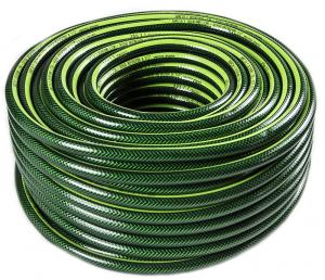 Manguera riego c:malla reforzada linea verde 1:2